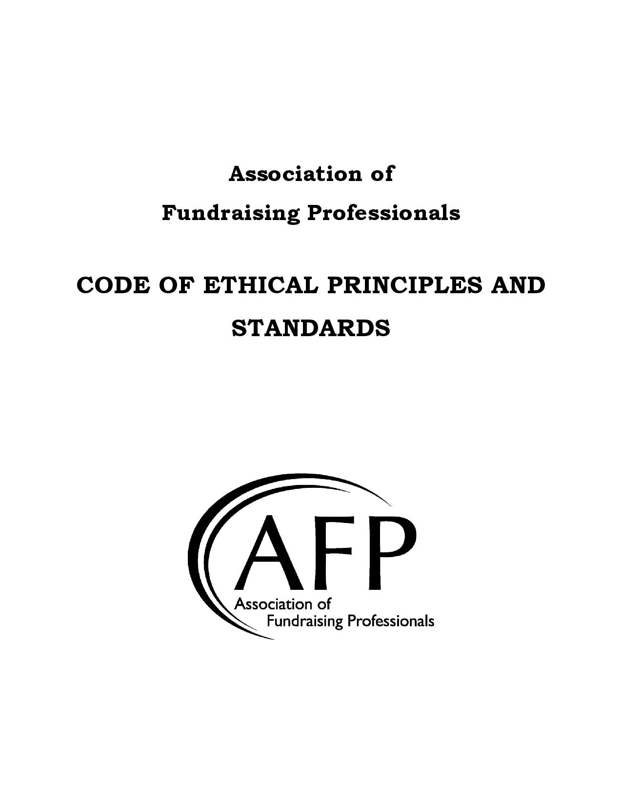 Afp Suncoast Chapter Ethics